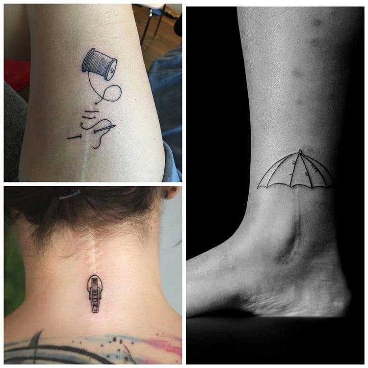três sugestões criativas de tatuagem em cicatriz