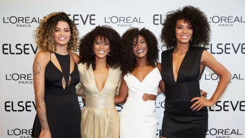Evento L'oréal Paris com famosas cacheadas