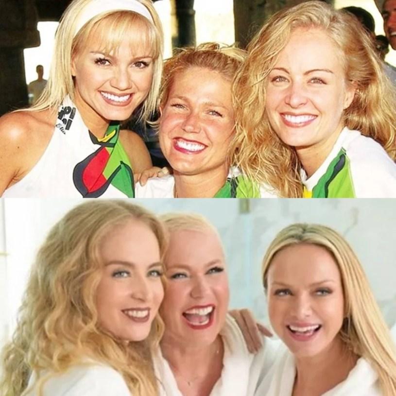 Eliana, Xuxa e Angélica, antes e depois