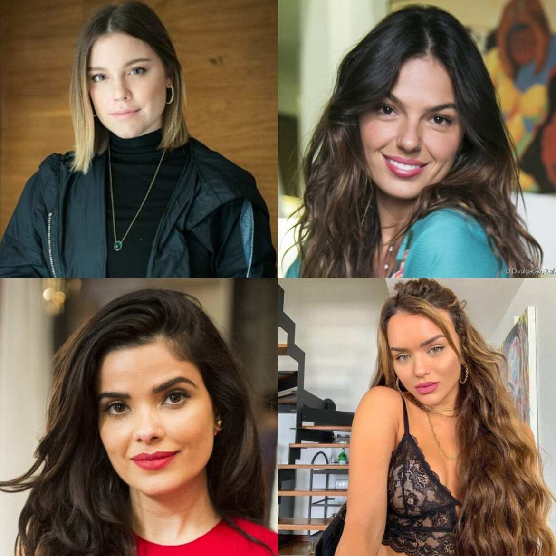Montagem com foto das outras 4 atrizes.