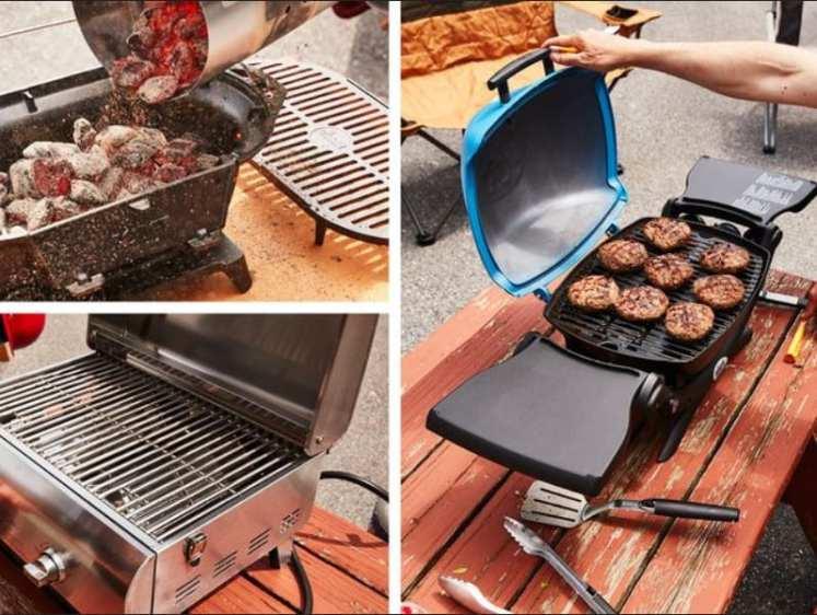 aqui foto de churrasqueira portatil com carvão