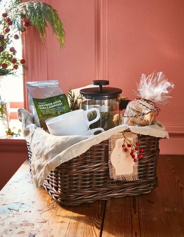cesta de Natal para quem gosta de café