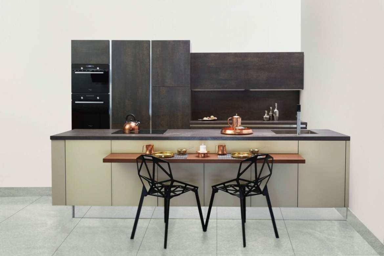 Cozinha com decoração minimalista