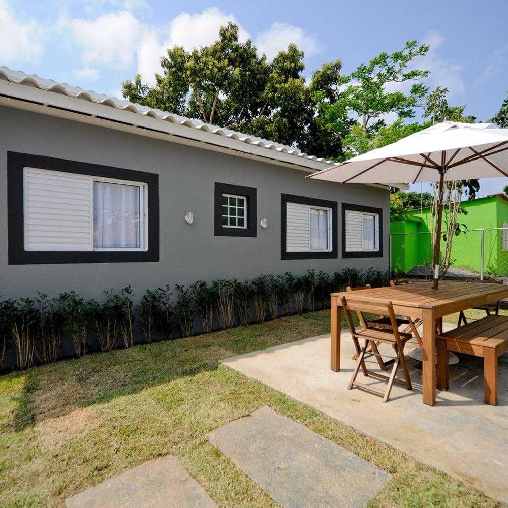 área externa da casa dos irmãos, em reforma no Lar Doce Lar