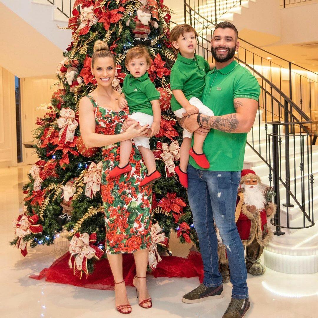 Família de Gusttavo Lima em Natal de 2019.