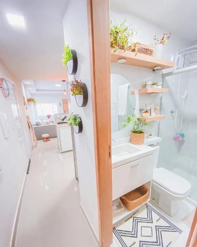Banheiro e sala combinando