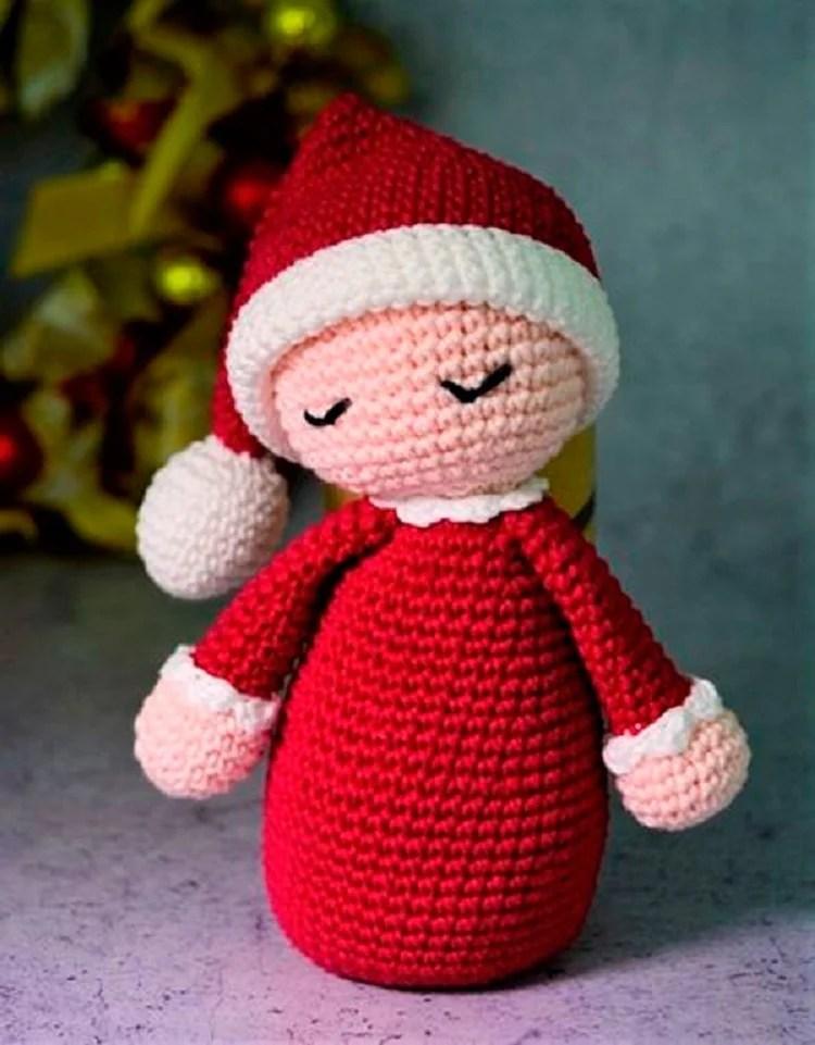 boneco de bebê Papai Noel