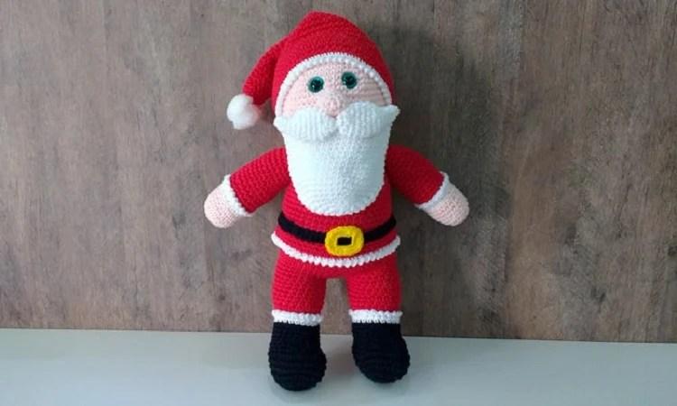 Papai Noel em amigurumi com receita