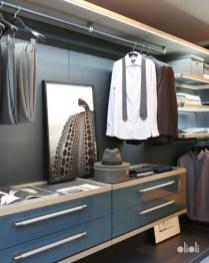 closet masculino em tons de azul