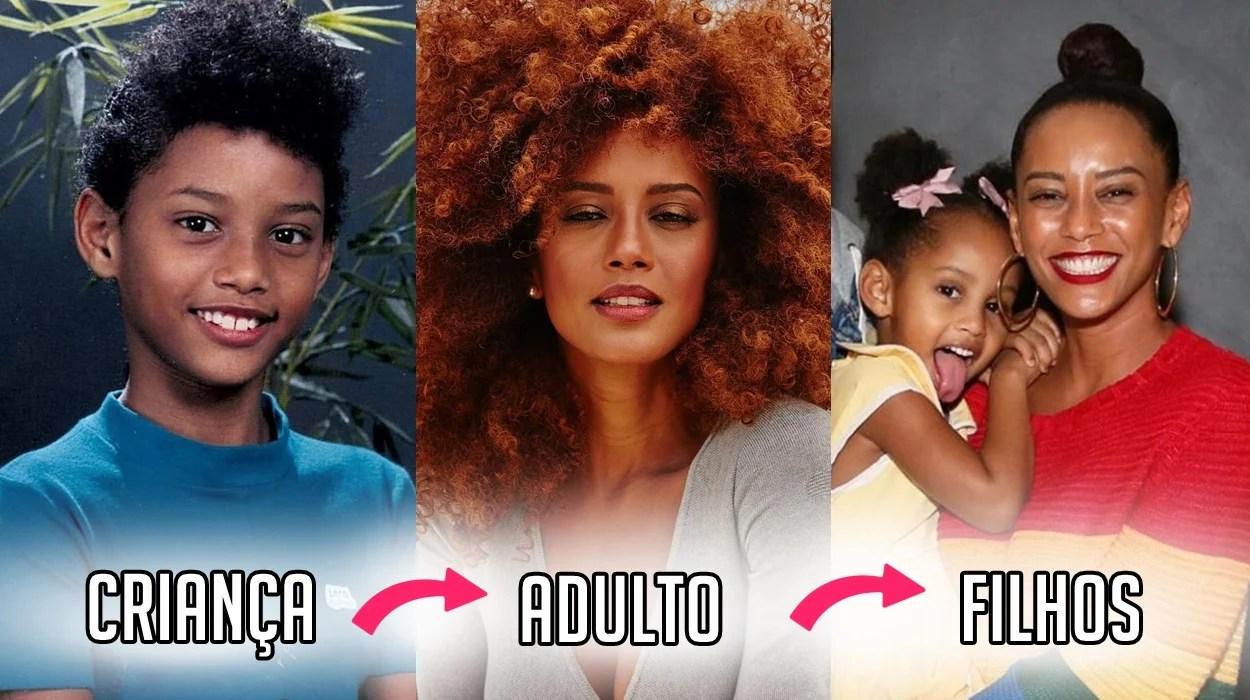 Tais Araújo Criança, adulta e filhos.