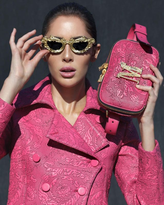 look rosa moschino