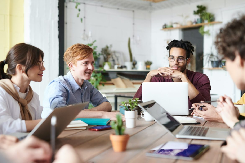 equipe de uma startup