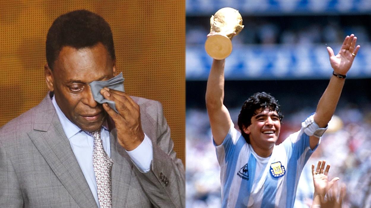 Pelé e Maradona.