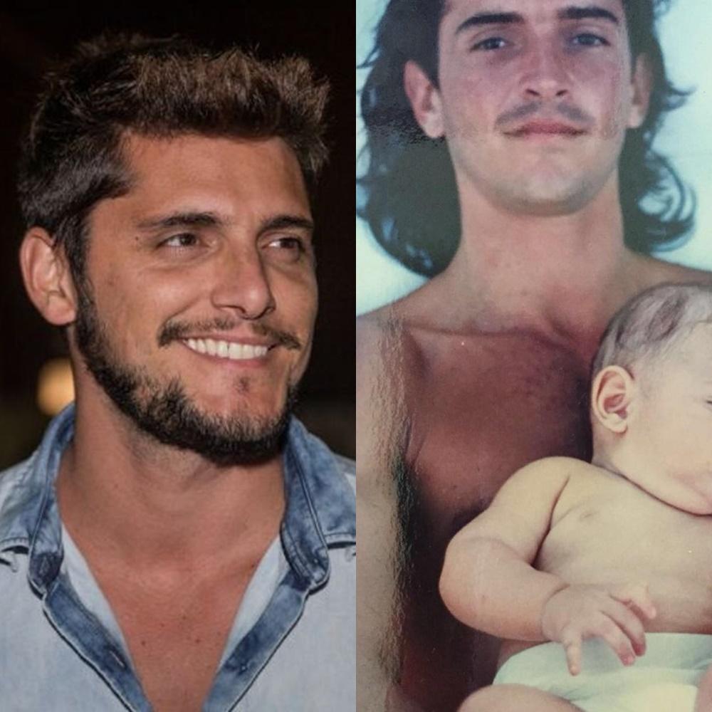 Bruno Gissoni e pai em comparação.