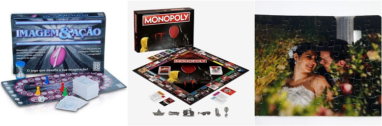 Imagem e Ação. Monopoly e quebra-cabeça