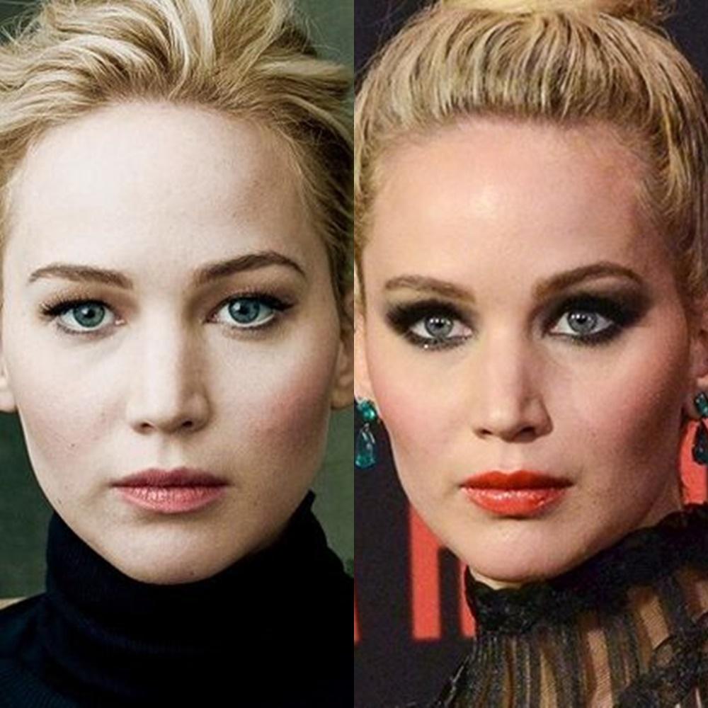 Jennifer Lawrence olhar profundo.