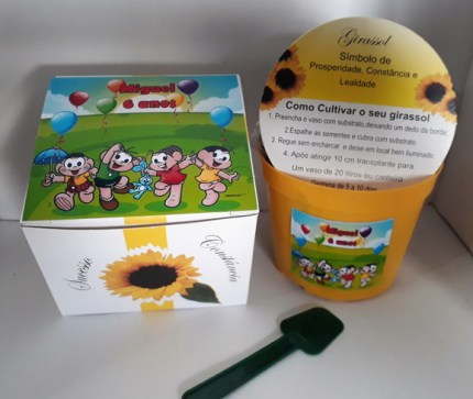 Mini presentes infantil com kit semente de girassol