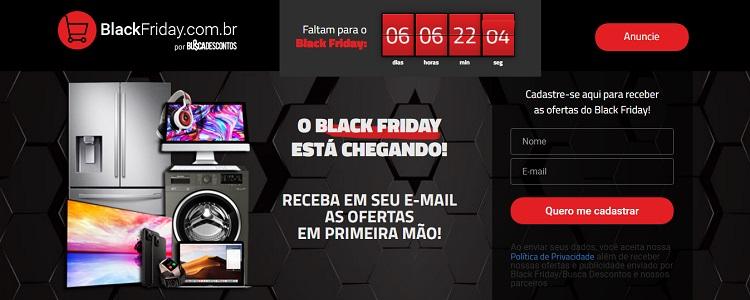 Página inicial do site BlackFriday.com.br
