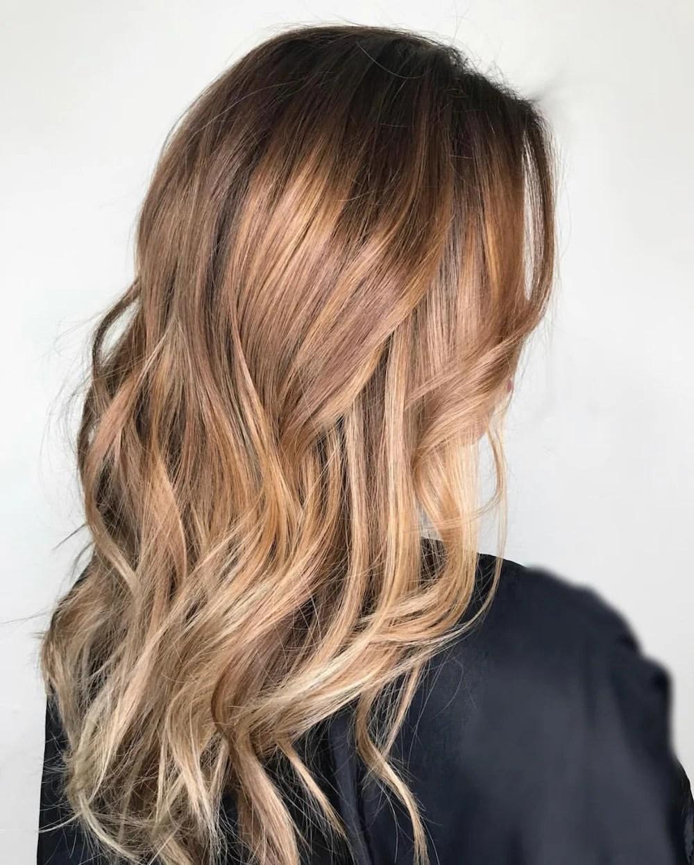 cabelo com balayage
