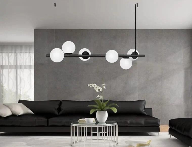 Sala com luminária