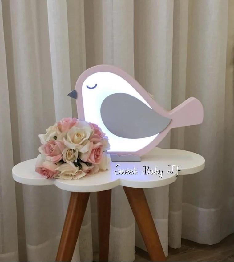 Luminária de passarinho