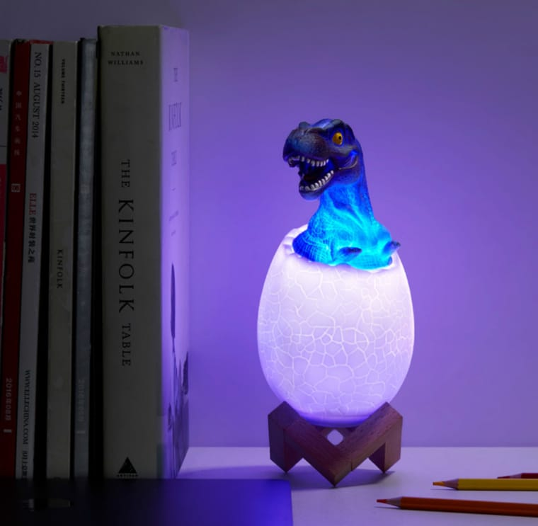Luminária de dinossauro