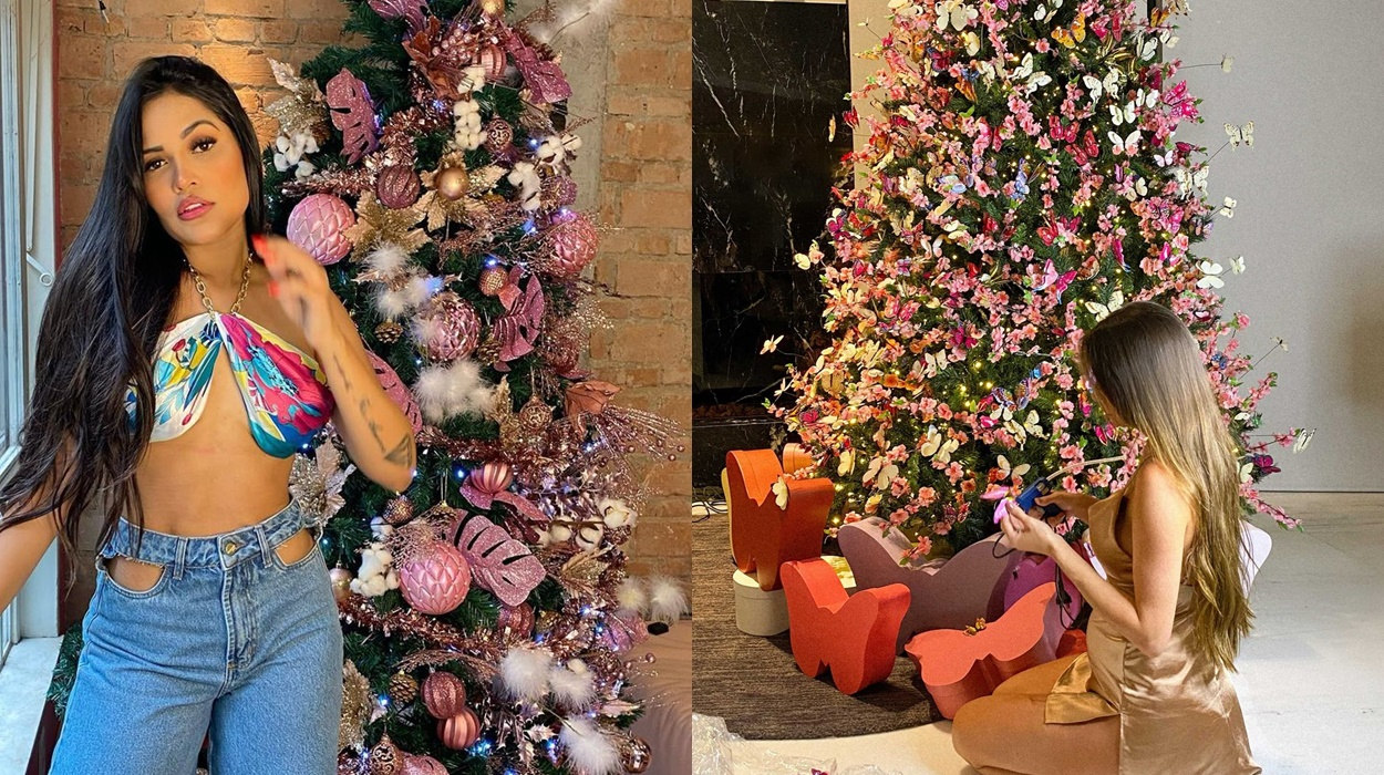 Flayslane e Romana Novaes, decoração de Natal.