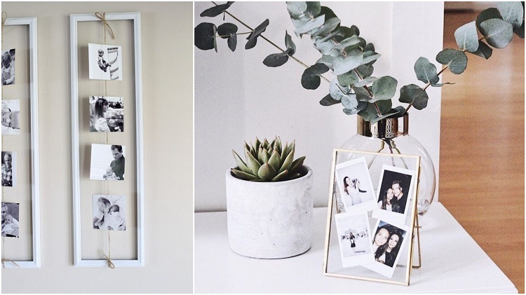 duas opções de porta-retratos para presentes de agradecimento