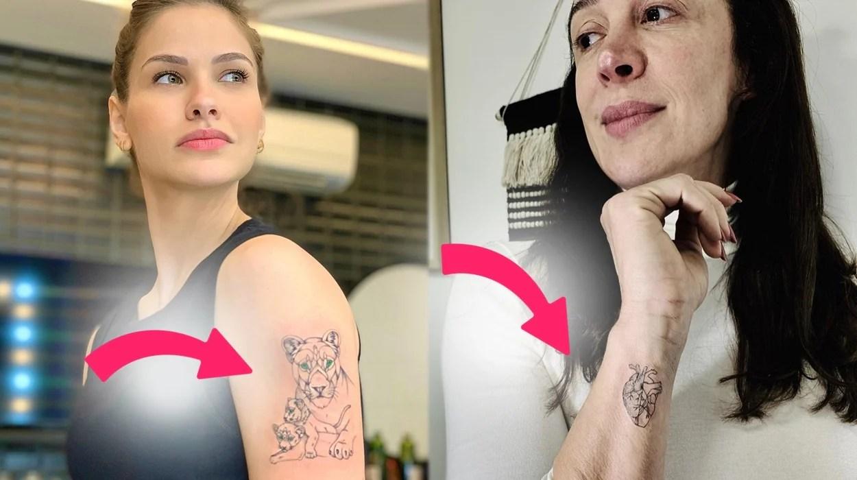 Andressa Suita e Claudia Raia, tatuagens para os filhos.