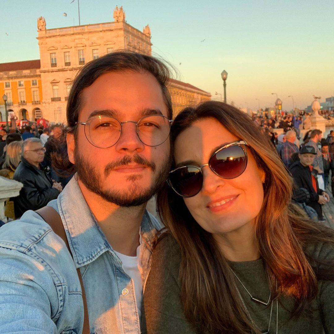 Apresentadora Fátima Bernardes e Túlio Gadelha.