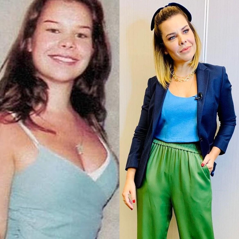 Fernanda Souza antes e depois da fama.