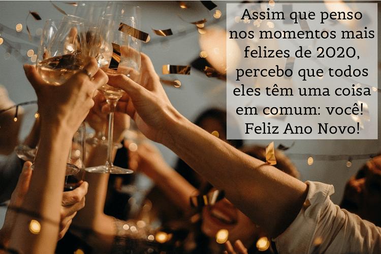 uma das mensagens de Ano Novo para amigos