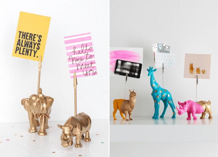 Lembrancinha DIY: porta-recados de animais