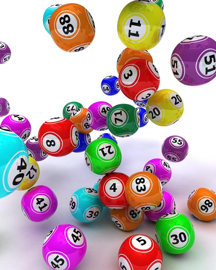 bolas coloridas para sorteio da Mega da Virada