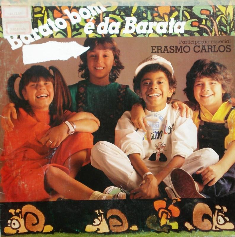 Foto da capa do LP ´Barato Bom é da Barata` da Turma do Balão Mágico, de 1985.