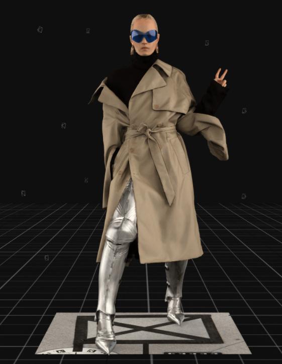 Modelo usa blusa gola alta com trench coat