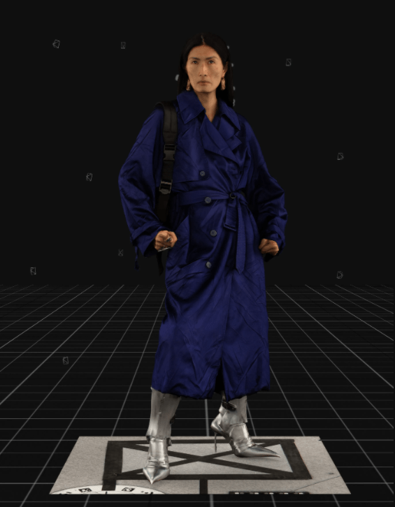 Modelo usa casaco tench coat e botas