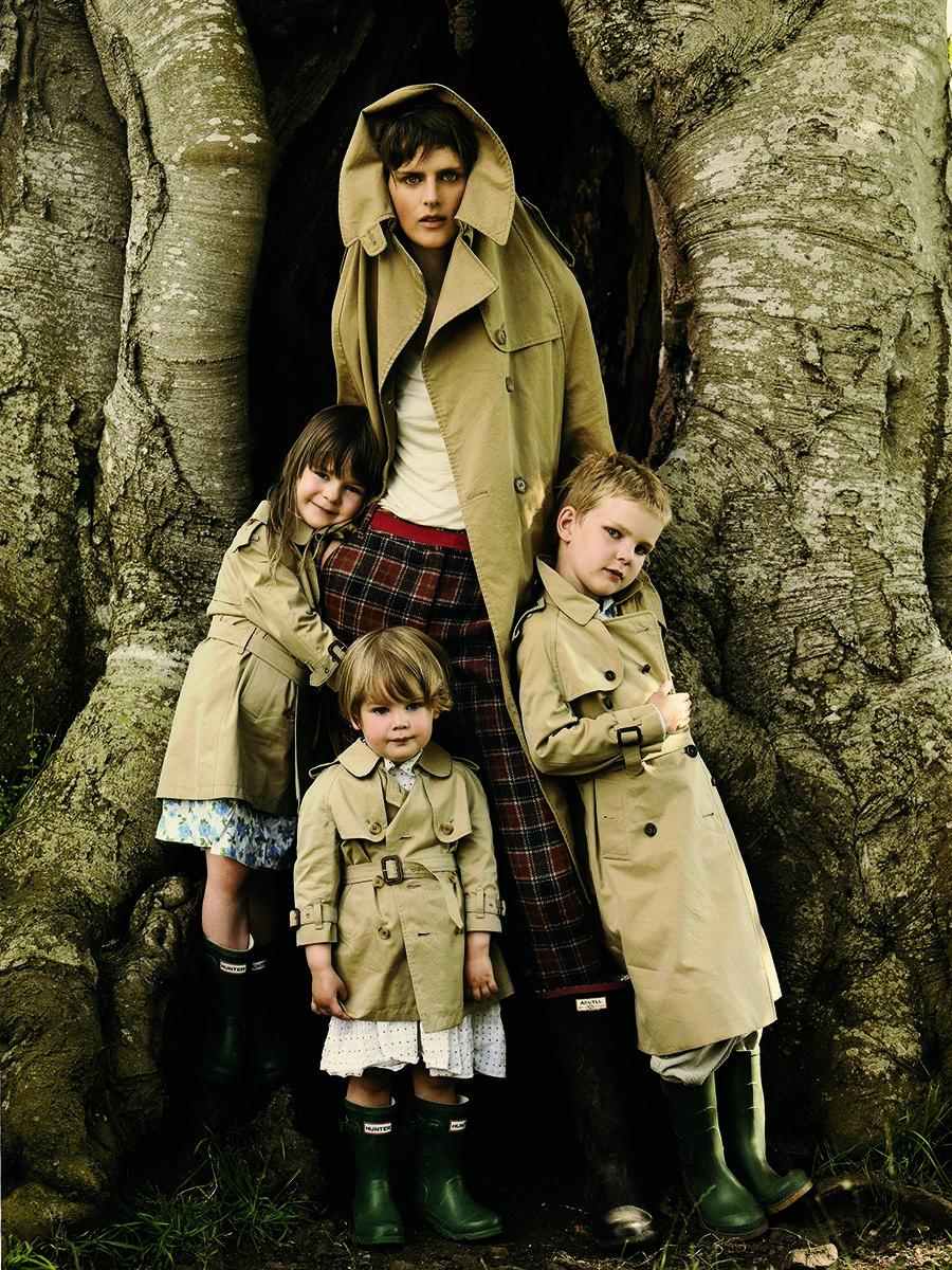 Família da modelo internacional.