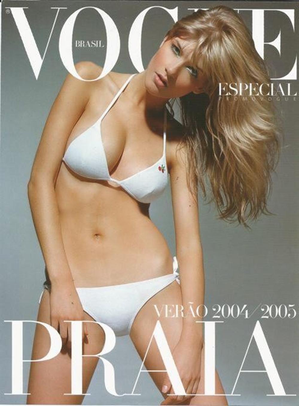 Modelo em capa da Vogue verão 2004/2005.
