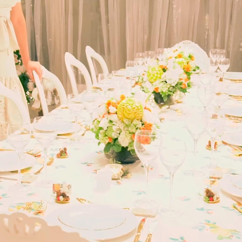Mesa de jantar natalina de Ana Hickmann.