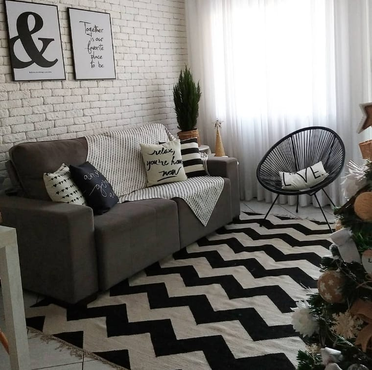 Preto e branco como cores para apartamento pequeno