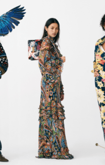 Vestido robe longue com estampa paisley