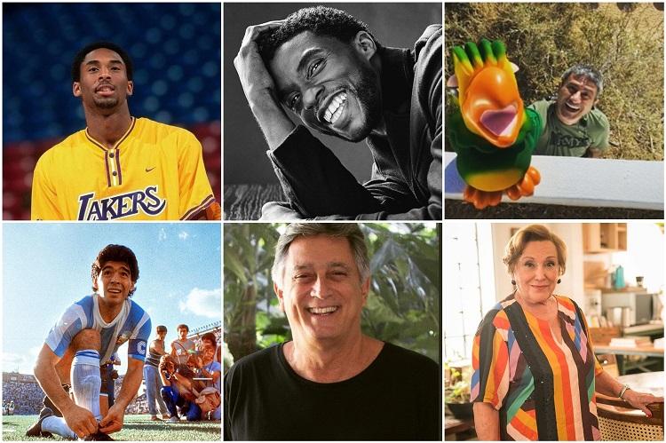 seis famosos que morreram em 2020