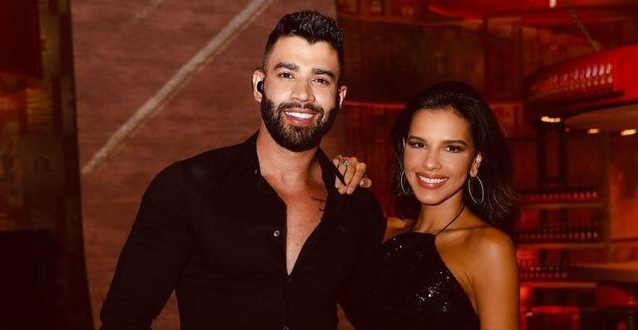 Mariana Rios e Gusttavo Lima no evento do Villa Mix