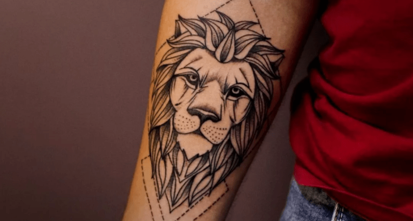 leão no braço