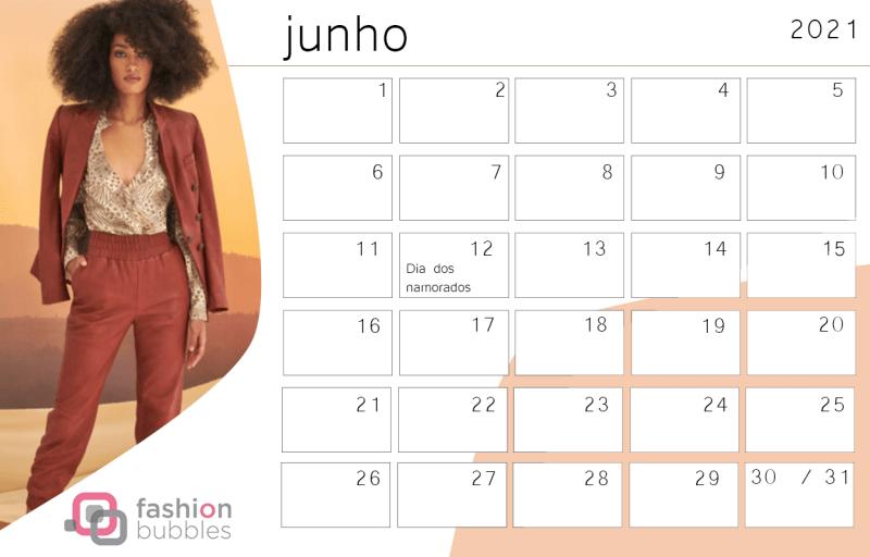 Planejamento Fashionista 2021 - Junho