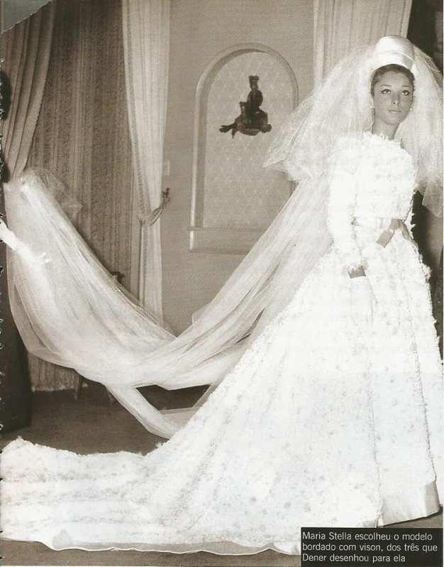 Foto do vestido de noiva de Maria Stella Splendore.