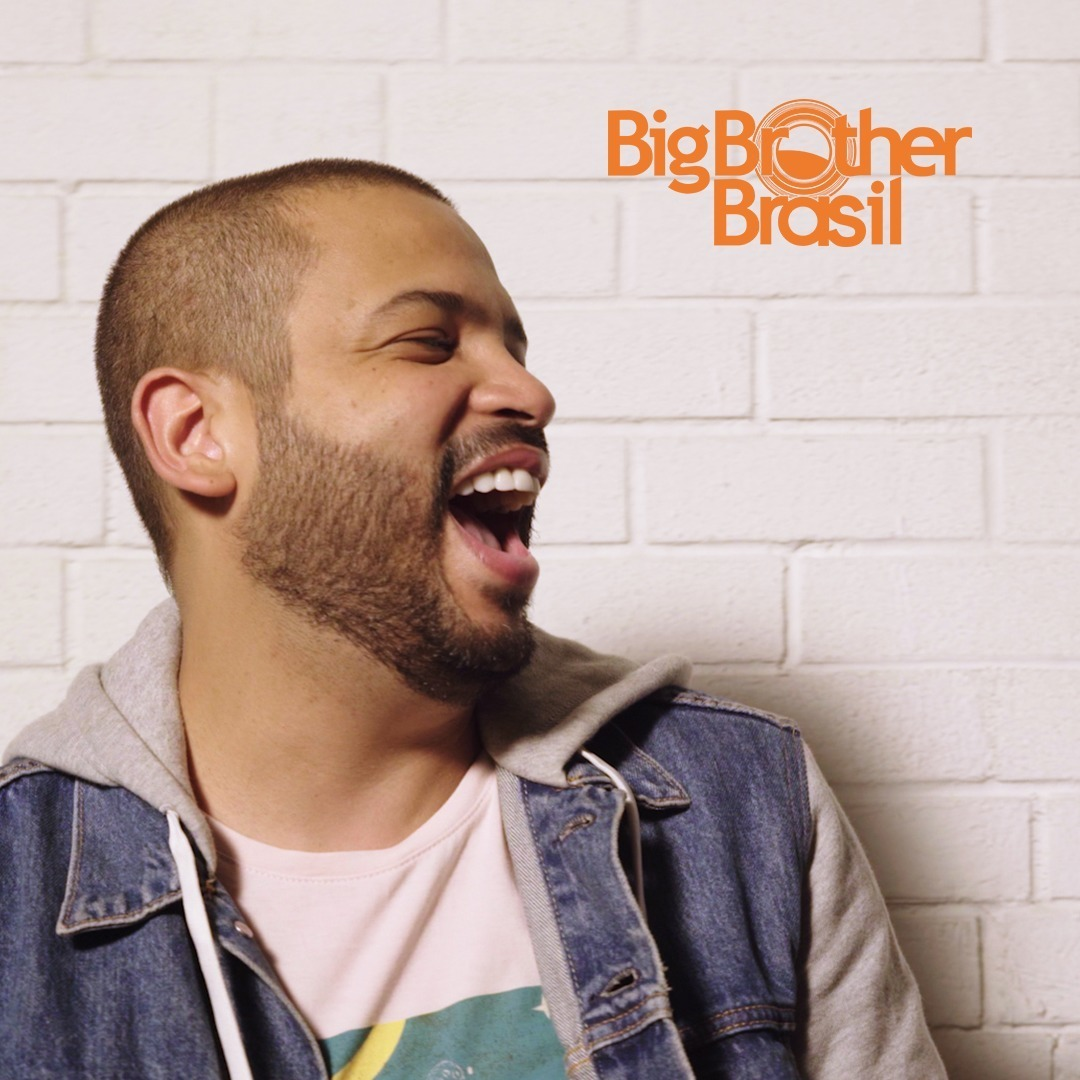 Rapper Projota no Big Brother Brasil.