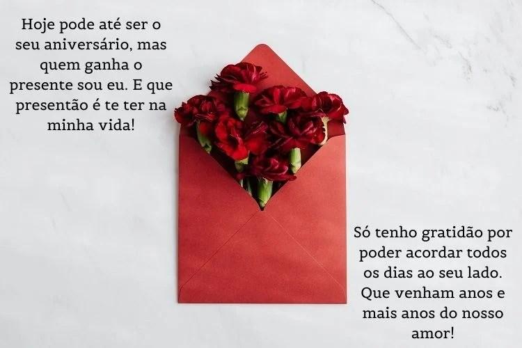 cartão de feliz aniversário para namorado