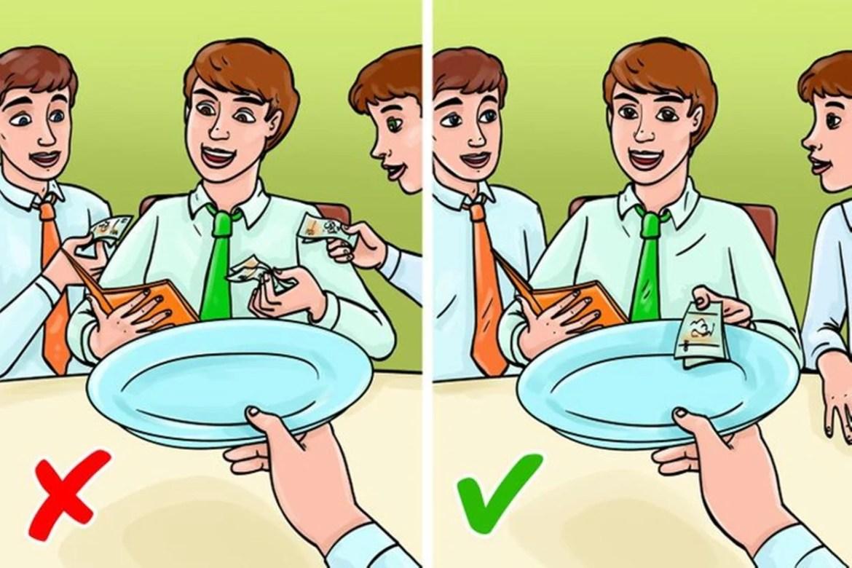 Regras de etiqueta simples: Convidou alguém para um almoço de negócio? Pague a conta!, imagem ilustrativa.